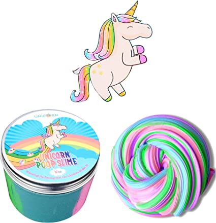 UNICORN POO GLITTER PUTTY SLIME TOY GIRLS PRIZE GIFT BIRTHDAY PARTY BAG FILLERS