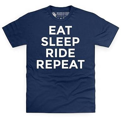 Eat Sleep Ride Repeat T-Shirt, Herren, Dunkelblau, S