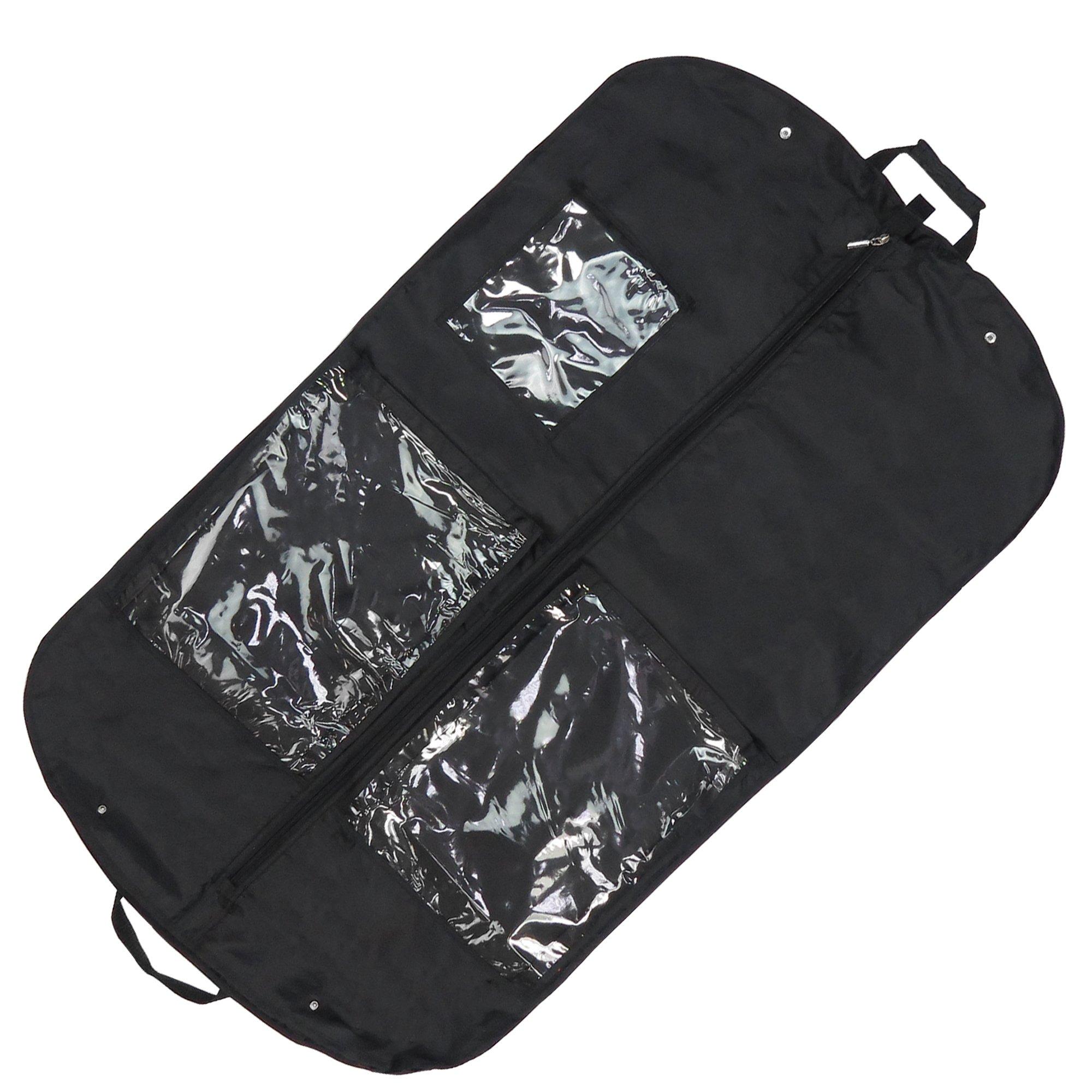 Hangerworld - Porta Trajes Con Asas Para Viajes, Negro, 112 cm product image