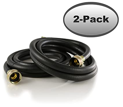 Amazon.com: 2-Pack Rubber Washing Machine Hoses 6ft Long - Hot and ...