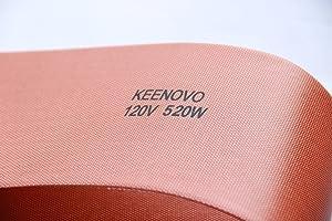"5"" X 24"", 520W@120V, KEENOVO Silicone Heater Blanket for Musical Instrument Press Mold Heat Blanket, Ukulele Side Bending Blanket, Custom Design Welcome"