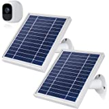 iTODOS 2 Pack Solar Panel Compatible with Arlo Pro 2, 11.8Ft Outdoor Power Charging Cable and Adjustable Mount ,Not for…