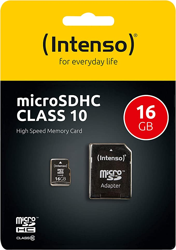 SDHC Class 4 Certified Professional Kingston MicroSDHC 16GB Card for Zen Mobile M72 Phone with custom formatting and Standard SD Adapter. 16 Gigabyte