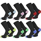 normani 6 Paar New Style Socks - Socken mit farbig abgesetzten Fersen und Zehen aus Baumwolle mit Elasthan