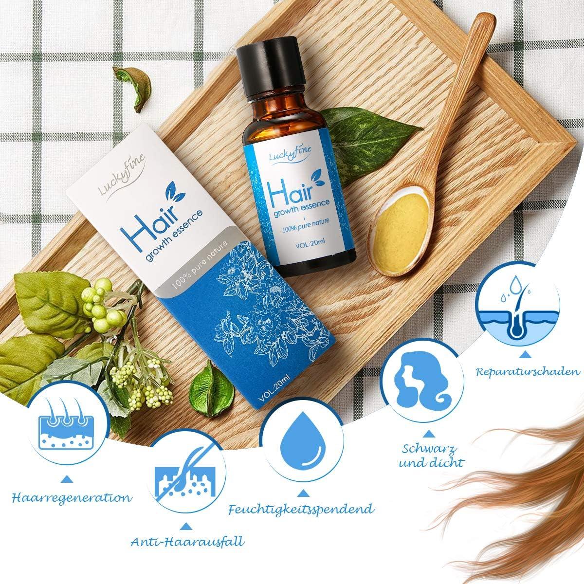 Luckyfine Suero anticaída nutritivo para el cuidado del cabello y un crecimiento rápido del cabello (agrega brillo natural) 20ml: Amazon.es: Belleza