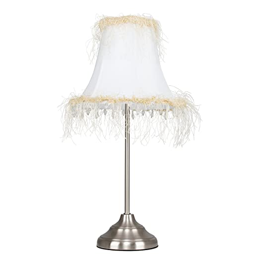 Tall brushed silver chrome touch table lamp with decorative cream tall brushed silver chrome touch table lamp with decorative cream shade aloadofball Images
