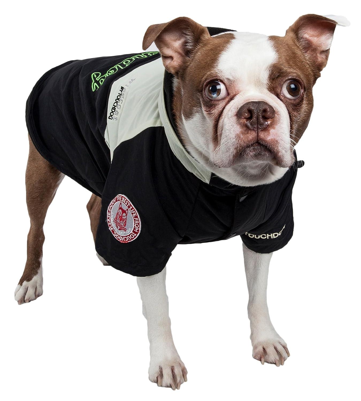 Black X-Large Black X-Large TOUCHDOG 'Mount Pinnacle' Waterproof and Windproof Fashion Designer Insulated Pet Dog Coat Ski Jacket Hooded Raincoat, X-Large, Black