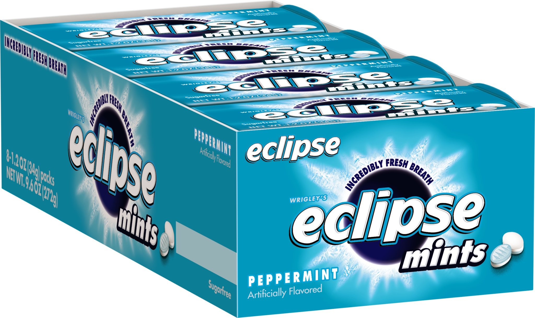 Eclipse Sugarfree Mints Peppermint, 1.2-Ounce Tins (Pack of 16)