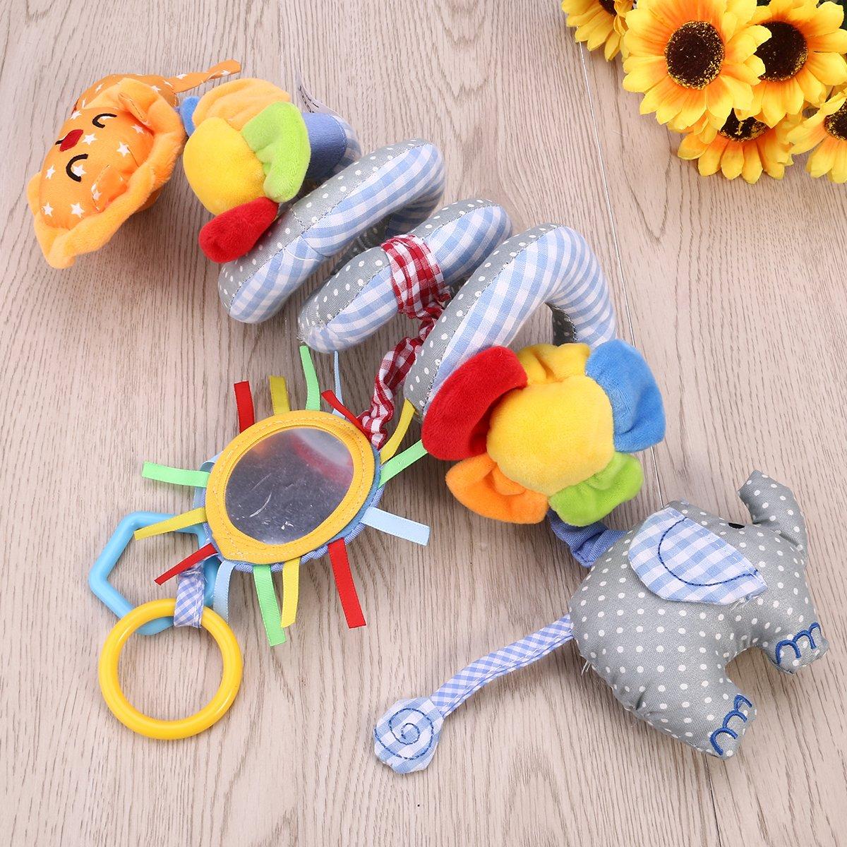 Leorx Spirale Spielzeug Spielzeug Spielzeug Baby-Autositz-Spielzeug mit Spiegel und Bell Bett h/ängen Kinderwagen