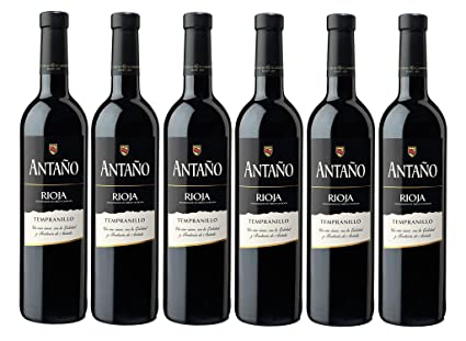 Antaño Tempranillo D.O Rioja. Vino Tinto - 6 Botellas x 750 ml - Total: