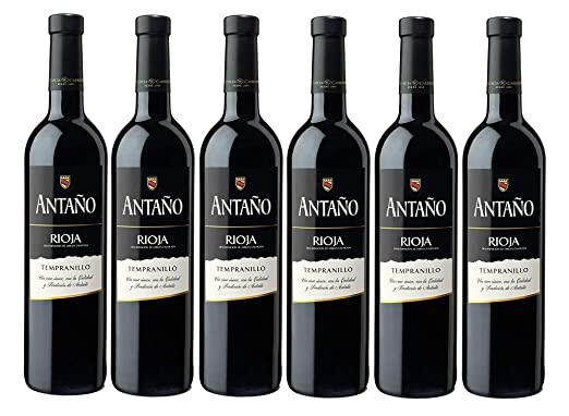 Antaño Tempranillo D.O Rioja. Vino Tinto - 6 Botellas x 750 ml - Total: 4500mL: Amazon.es: Alimentación y bebidas