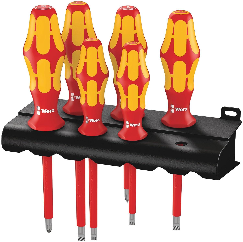 Wera Kraftform Plus 160i/6 Insulated Professional Screwdriver Set, 6-Piece Wera Tools 05006145001
