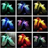 Cordones con luz LED, 3modos de iluminación con 5colores distintos