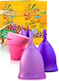 Talisi Menstrual Cups - Reusable Menstruation Period Cup for Women With Collapsible Sterilization Menstrual Cup for…