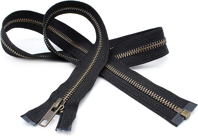 14 inch zipper for backpack 5 pieces DAL14 silver zippers donut pull zipper bag zippers ykk metal zippers brown zippers