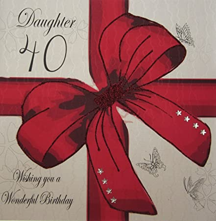 White Cotton Cards 1 Piece Daughter Wishing You A Wonderful Birthday