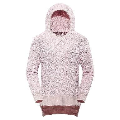 31e3dd7b36f Amazon.com  FOROLAV Women s Long Sleeve Popcorn Sweater Hoodie  Clothing