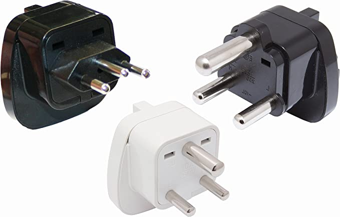 Set de 3 adaptadores de Viaje para Sudáfrica, etc. Tipo D + M + N – con protección de Contacto.: Amazon.es: Electrónica
