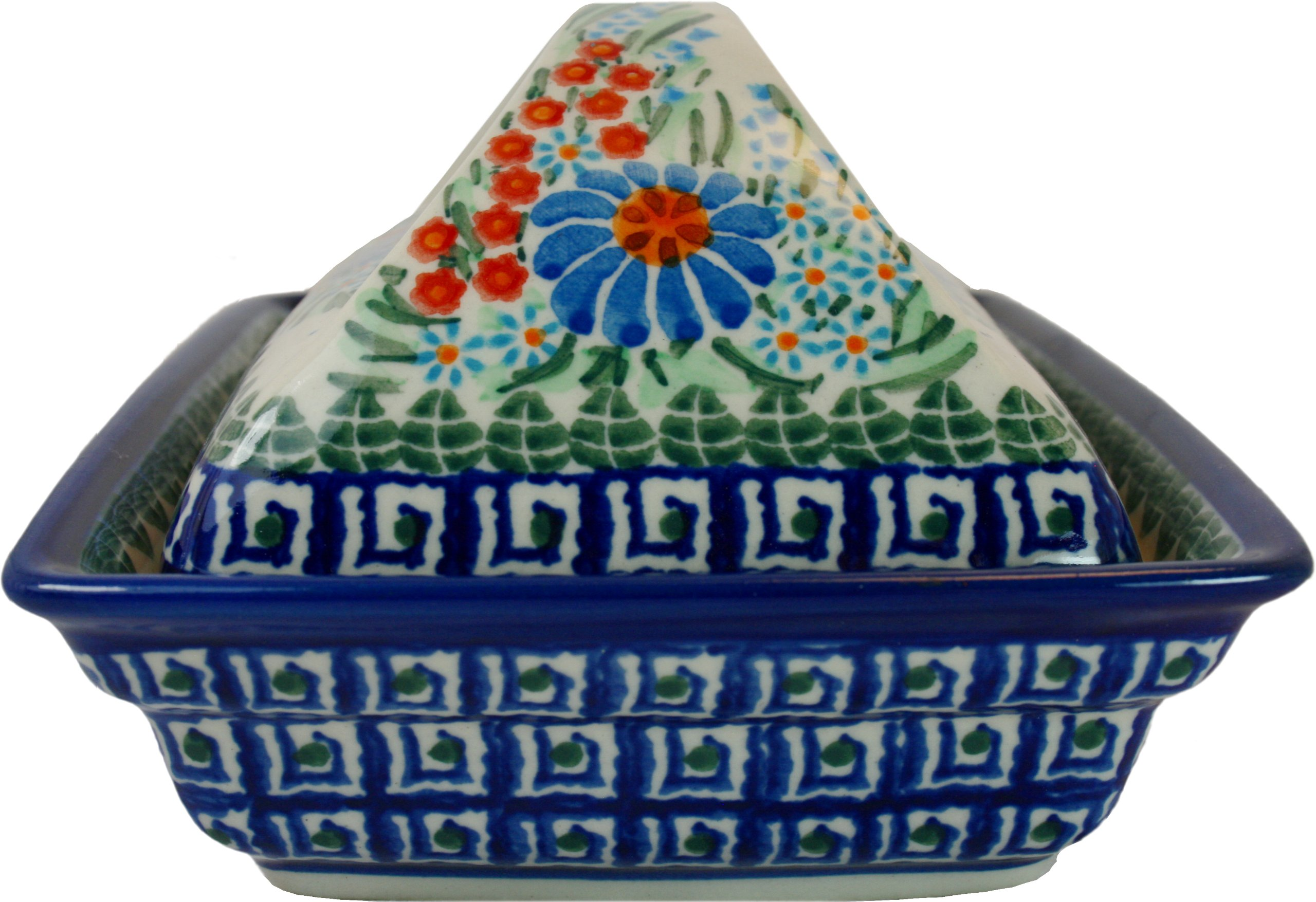 Polish Pottery Ceramika Boleslawiec 0352/169 Butter Deep Dish, 2 Cubes by Polish Pottery Ceramika Boleslawiec (Image #4)