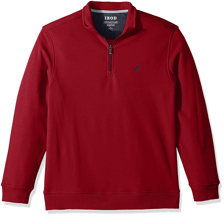 IZOD Mens Big and Tall Advantage Performance Quarter Zip Fleece Pullover