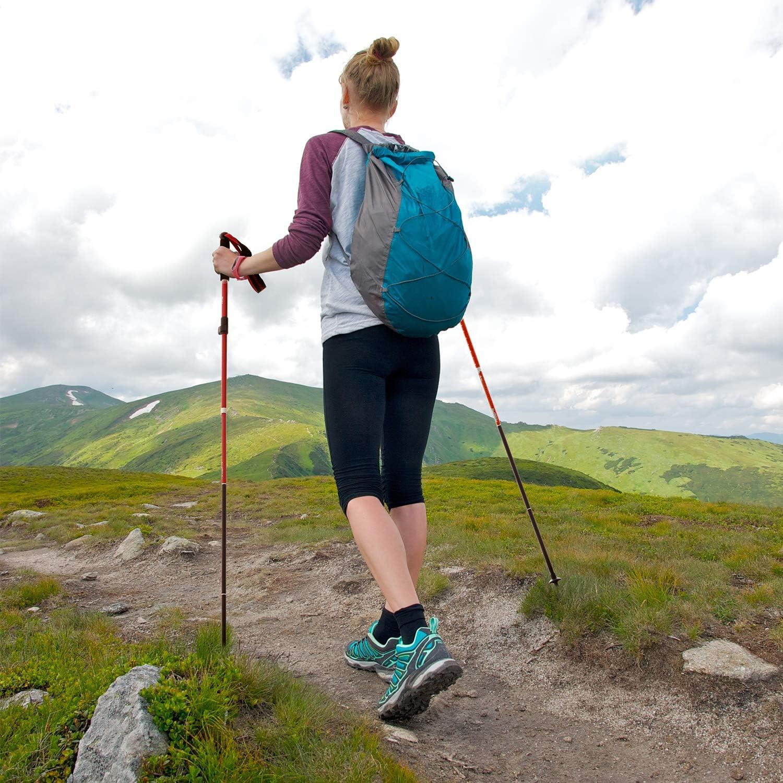 Naturehike Aluminum Alloy Folding Trekking Poles Camping Walking Hiking Sticks