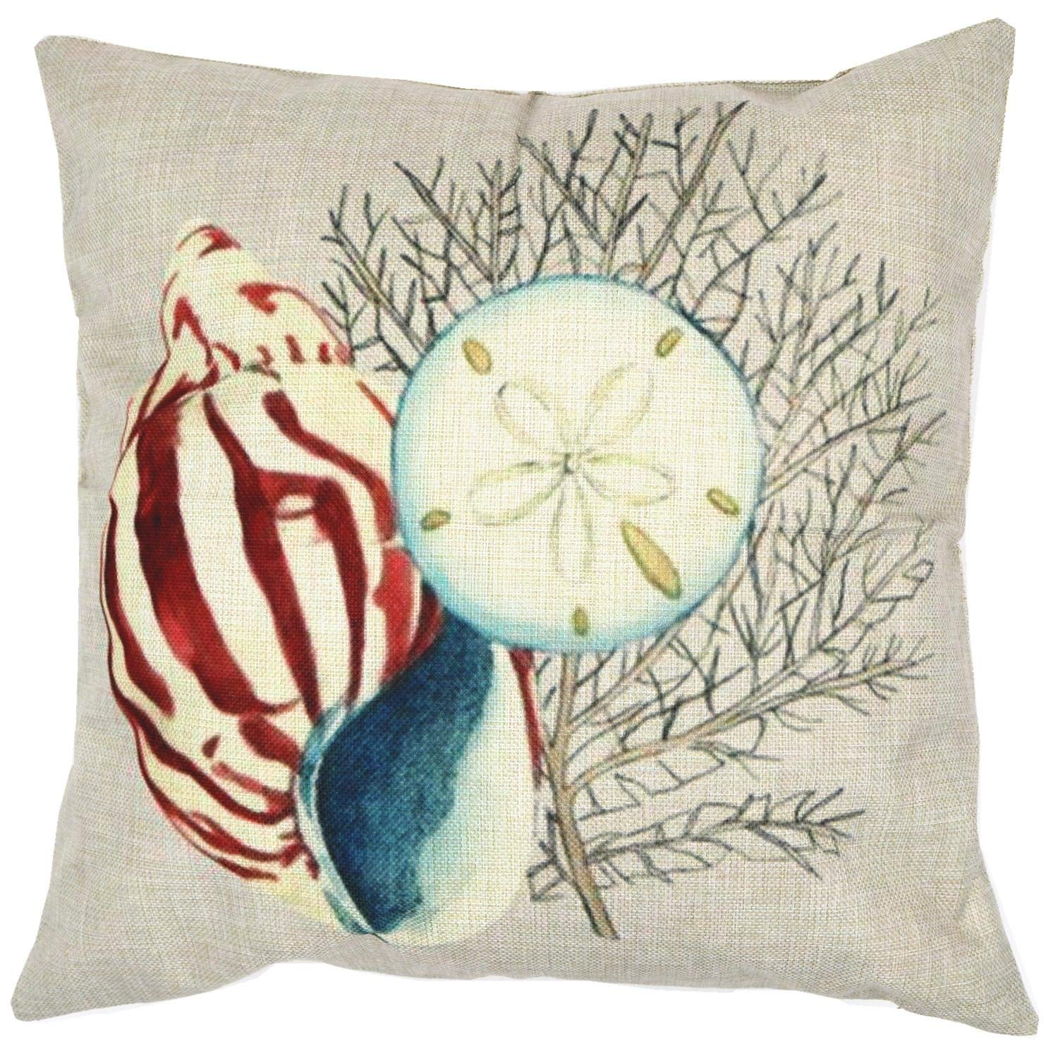 ZUEXT Home Decor Throw Pillowcases Cotton Linen Cushion Cover Cases for Couch//Sofa//Bedroom//Living Room//Kitchen//Car Square Pillow Case 18 x 18 inch Peacock Decorative Throw Pillow Covers Set of 4