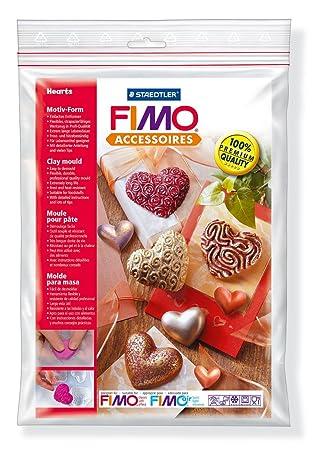 Staedtler Fimo Accesoires 8742 26 - Molde para masa Fimo, 8 motivos, diseño corazones: Amazon.es: Juguetes y juegos