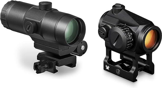 Vortex Optics Crossfire Red Dot Sight (CF-RD2) & 3X Magnifier w/Built-in Flip Mount (VMX-3T)