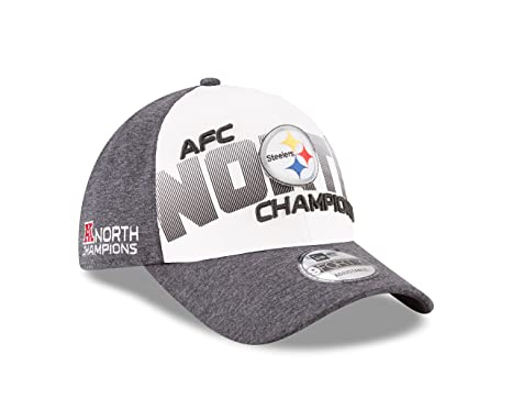 d376e6ef Pittsburgh Steelers New Era 2017 AFC North Division Champions 9FORTY  Adjustable Hat – Gray