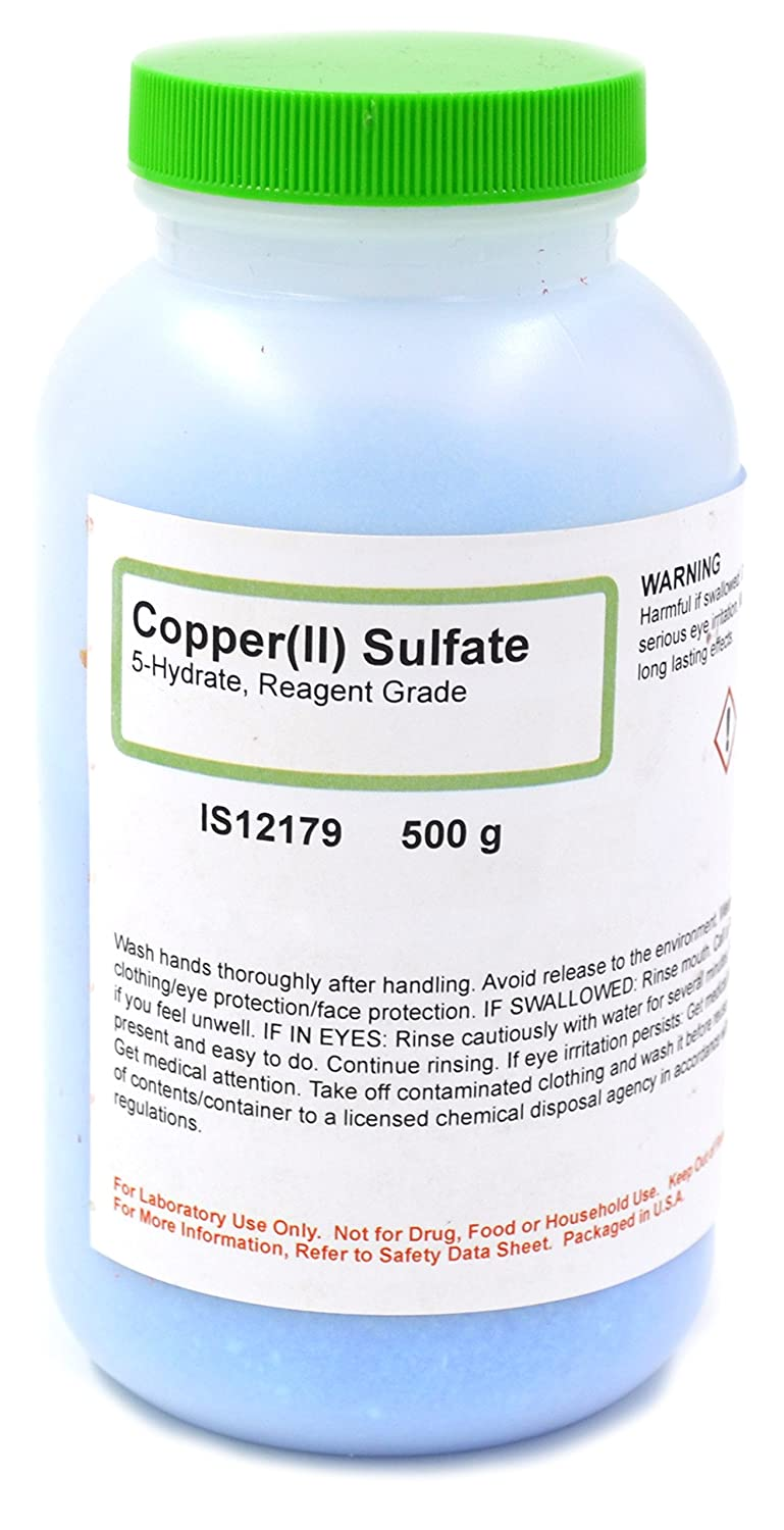 Reagent Grade Copper (II) Sulfate 5-Hydrate, 500g - The Curated Chemical Collection