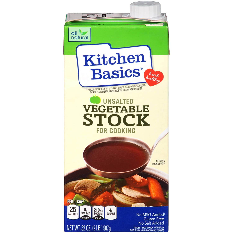 Kitchen Basics Unsalted Vegetable Stock, 32 fl oz