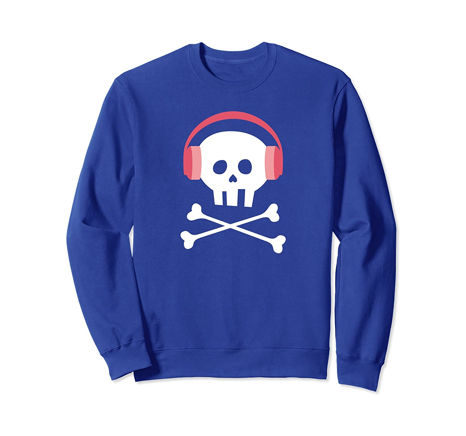 Cute Skull and Crossbones Sweatshirt for Girls and Women-mt