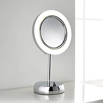 Sara Freestanding LED Magnifying Vanity Mirror