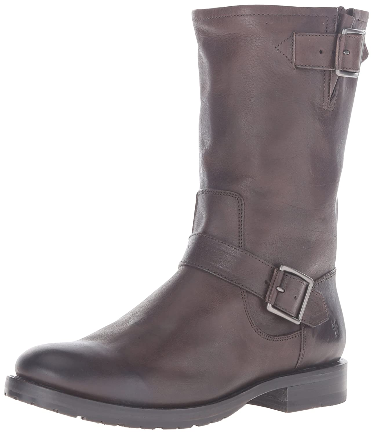 FRYE Women's Natalie Mid Engineer Boot B0193YVTEY 7.5 B(M) US|Charcoal