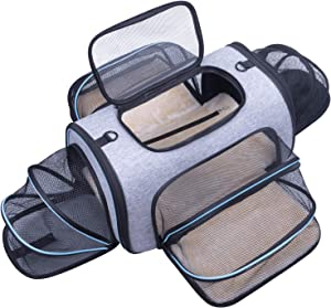 Siivton 4-Sided Expandable Dog Carrier