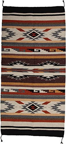 El Paso Designs Beautiful Hand-Woven Southwest Style Accent Rug Pattern 32 X 64 32 x 64 inch, HIM-331E