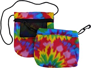 Bonding & Sleeping Pouch (Tie Dye) Combo Bundle for Sugar Gliders and Small Pets