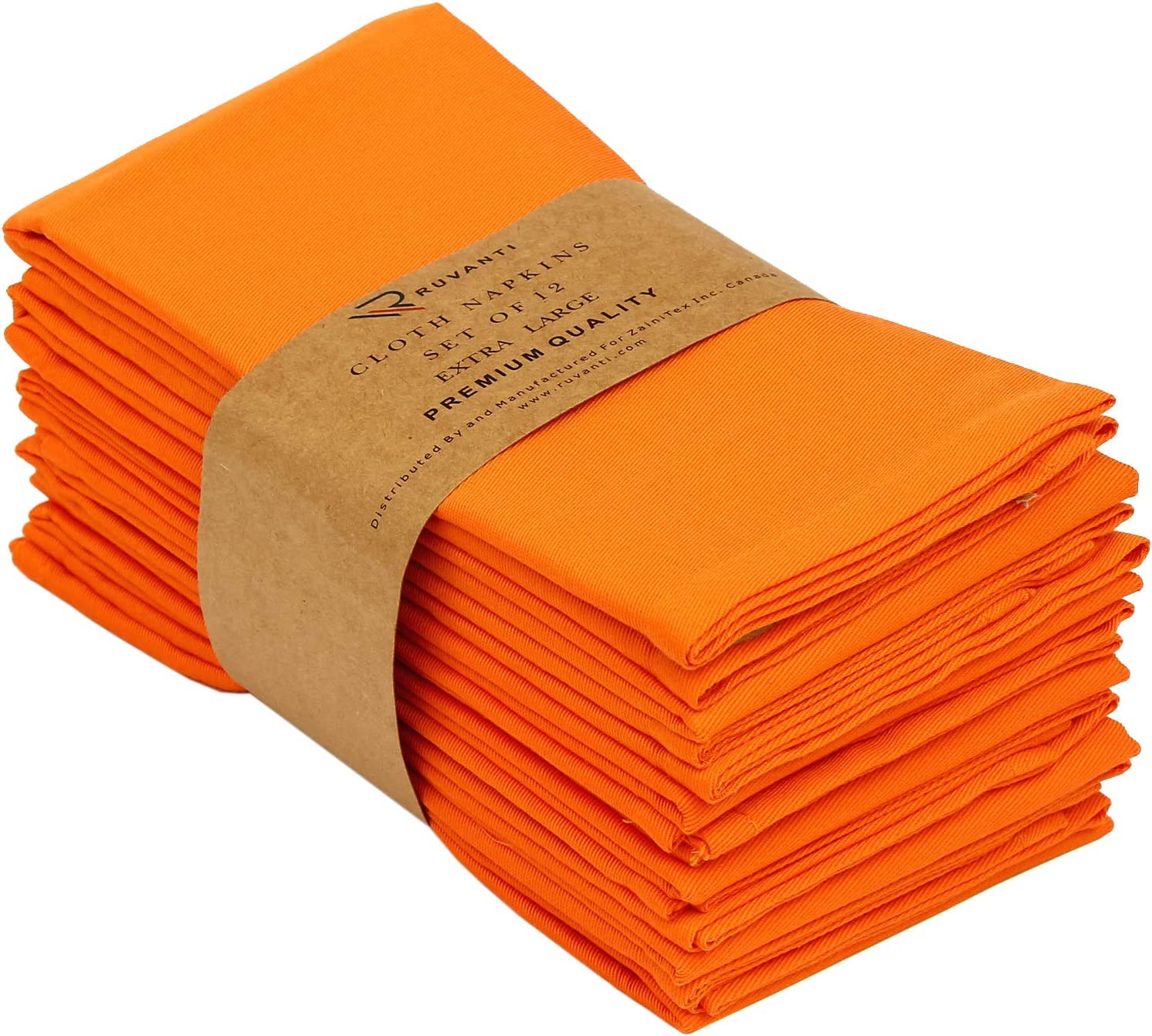Set of 2 Orange Grey Safari  Cloth Napkins by Spoonflower - Lion On Turmericcharcoal by andrea/_lauren Orange Lion Dinner Napkins