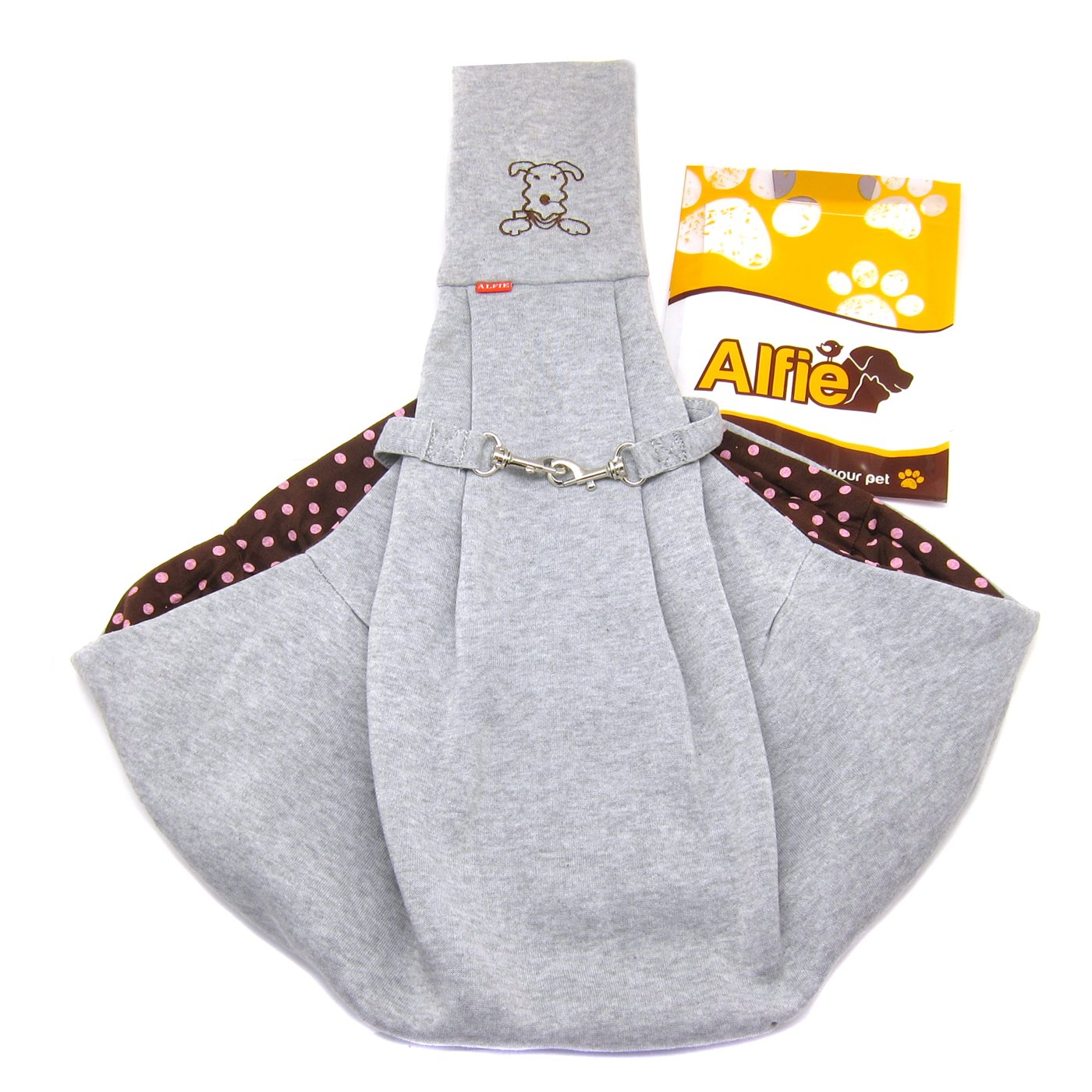 Alfie Pet by Petoga Couture - Chico Reversible Pet Sling Carrier Grey