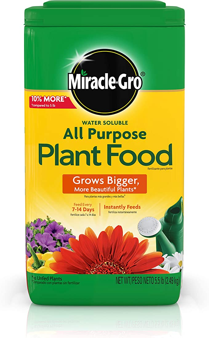 Miracle-Gro Water Soluble Plant Food - Best Pick