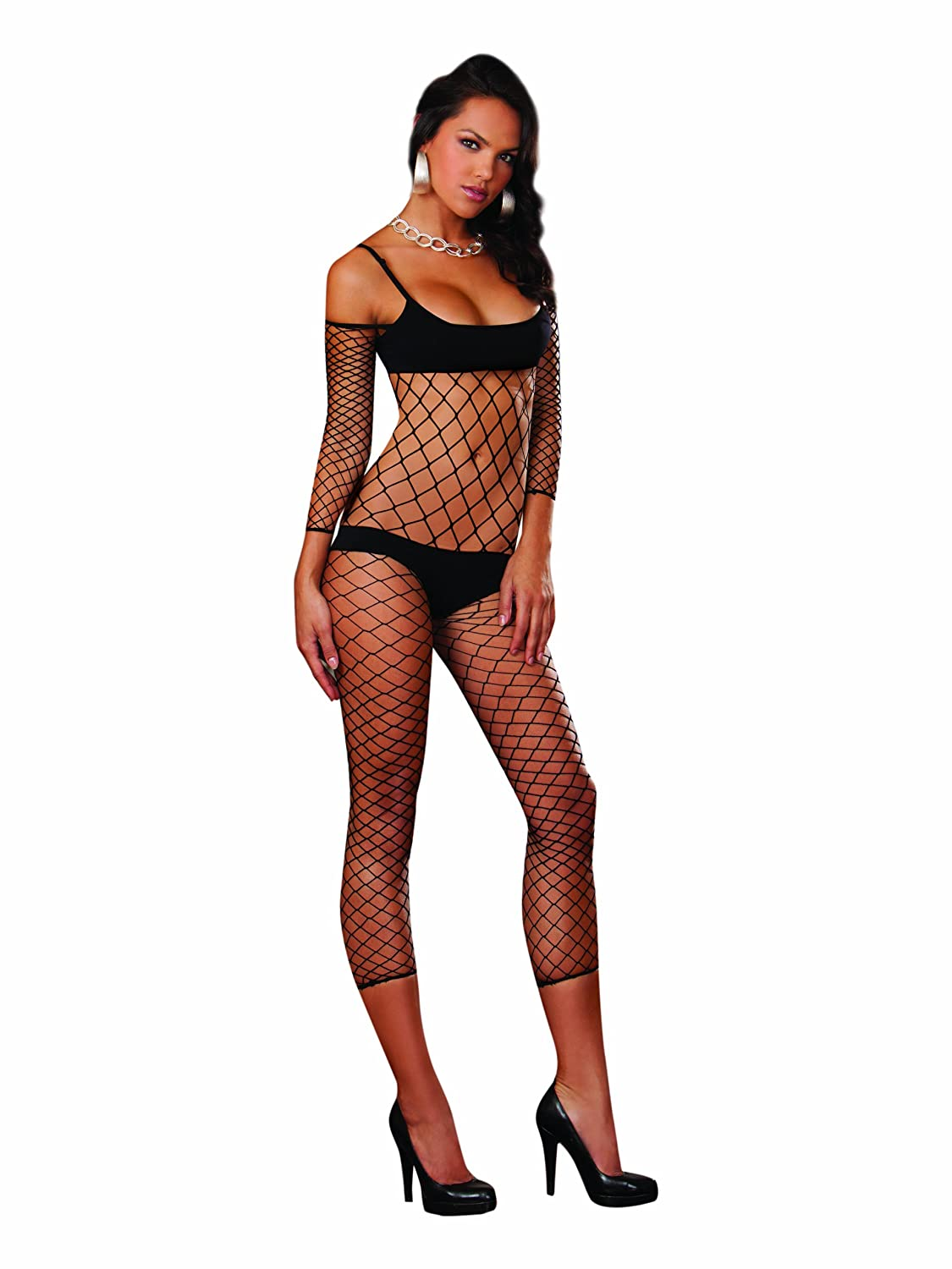 e05b956952 Dreamgirl Women s Rio De Janeiro Fence Net Bodystocking - Black -   Amazon.co.uk  Clothing