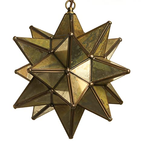 12 inch moravian star pendant light antique mirror glass string 12 inch moravian star pendant light antique mirror glass aloadofball Image collections
