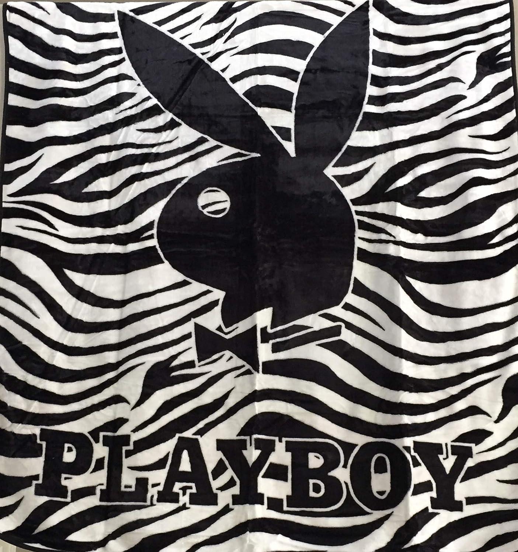 Playboy New Licensed Original Bunny Blanket Zebra
