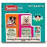 Kit, Shampoo Condicionador Ganhe 1 Colonia Sanol Dog para Cães