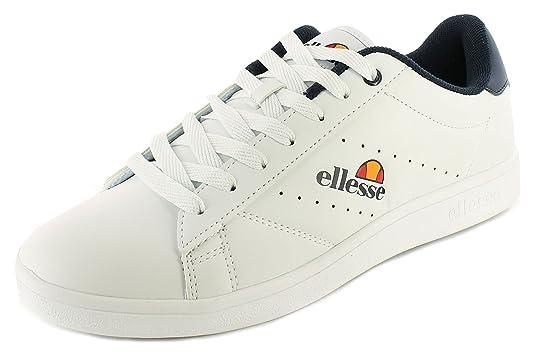 ... para Hombre Ellesse Aniza bajo UPS de Encaje Retro Estilo Formadores. - Blanco/Azul - UK tamaños 7 - 10,5, Color Blanco, Talla 44.5: Amazon.es: Zapatos ...
