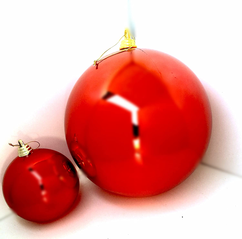 amazon com 1 large 8 u0027 u0027 shiny red christmas ball ornaments 8inch