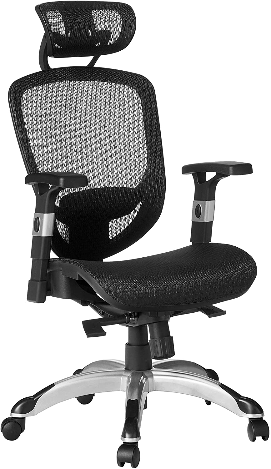 Amazon Com Staples Hyken Technical Task Black Sold As 1 Each Adjustable Breathable Mesh Material Provides Lumbar Arm And Head Support Perfect Desk Chair For The Modern Office Furniture Decor