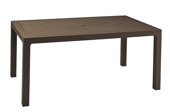 Keter - Mesa comedor exterior Melody de 6 plazas, Color marrón
