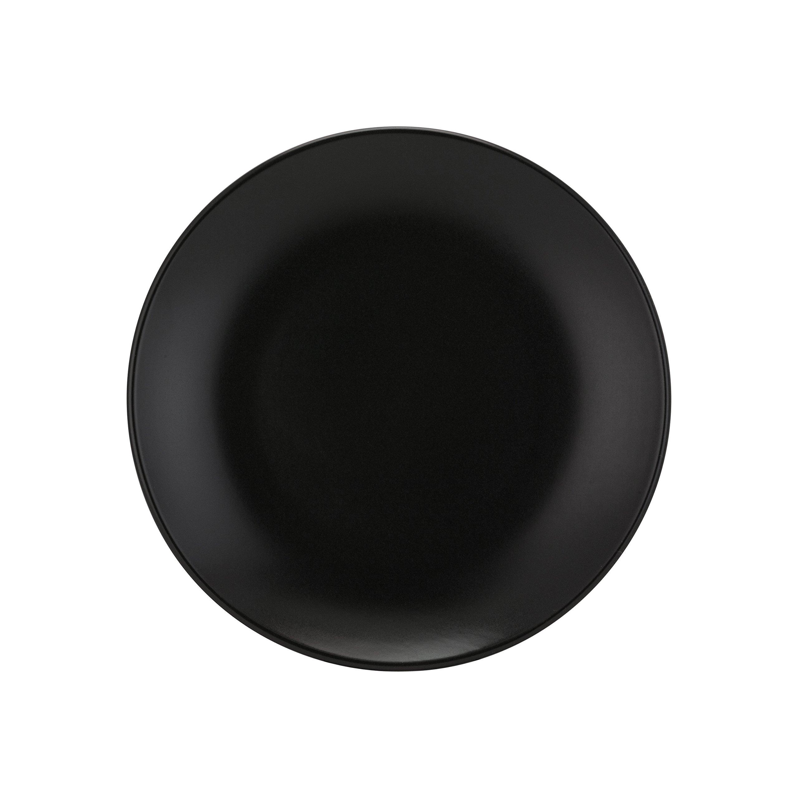 10 Strawberry Street Wazee Matte - 7.75'' Coupe Salad Plate - Set of 6 - Black