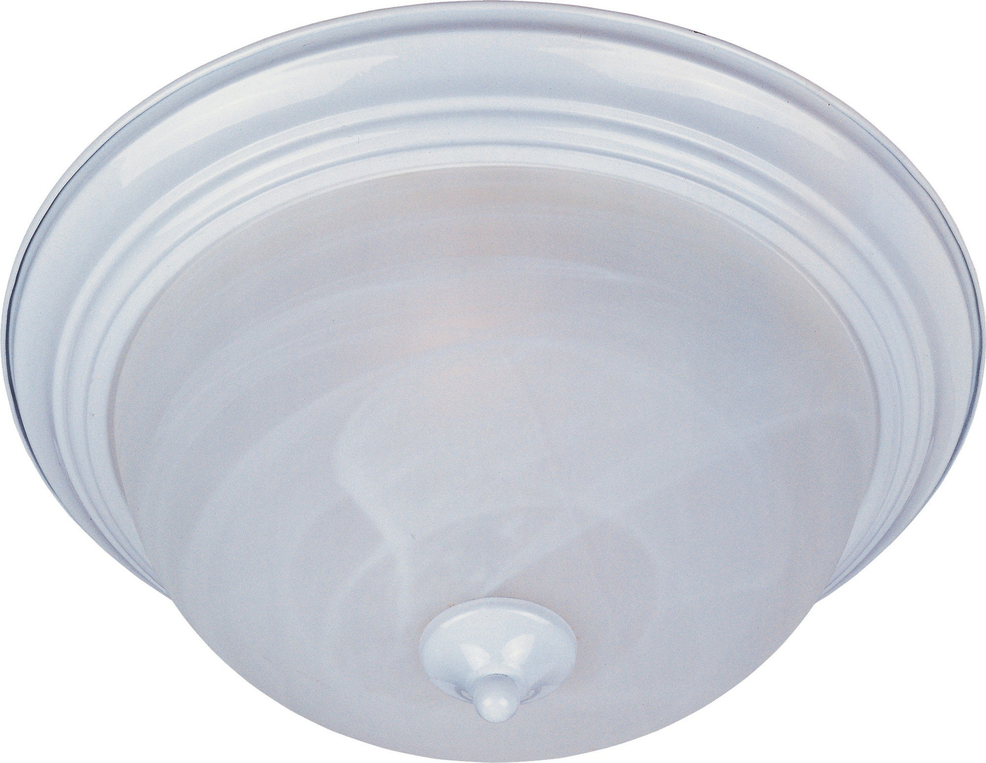 Maxim 5841MRWT Essentials 2-Light Flush Mount, White Finish, Marble Glass, MB Incandescent Incandescent Bulb , 60W Max., Dry Safety Rating, Standard Dimmable, Glass Shade Material, Rated Lumens